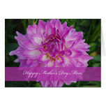 Dahlia Mother's Day Mom Greeting Card