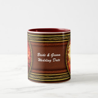Dahlia - Nature's Radiance Two-Tone Coffee Mug