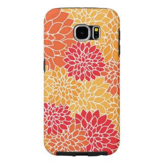 Dahlia Pattern Samsung S6 Tough Case
