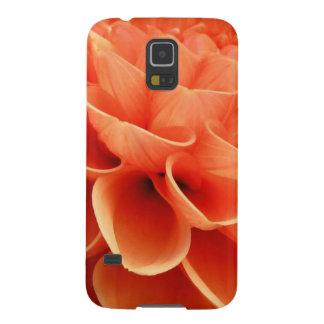 Dahlia Peach Photo Galaxy S5 Covers