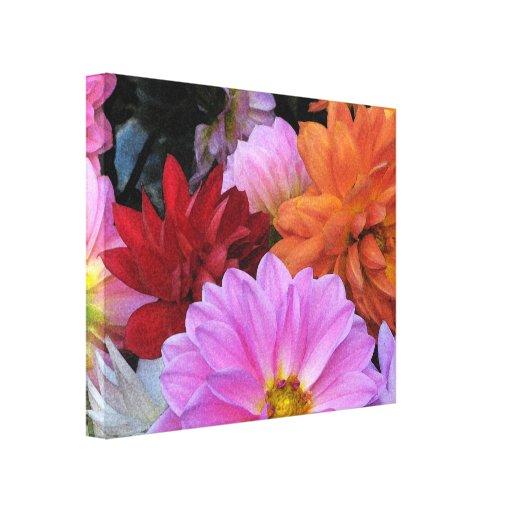 Dahlia Petals Gallery Wrapped Canvas