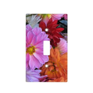 Dahlia Petals Switch Plate Covers