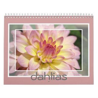 Dahlia photos for wall decoration calendar