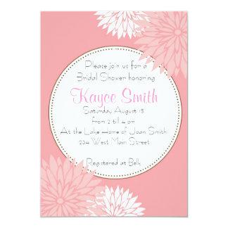 Dahlia Pink Flower Invitation