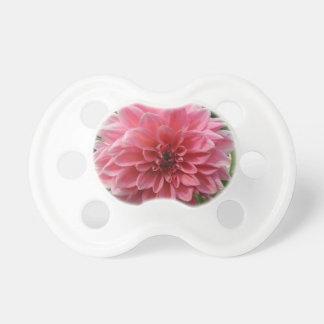 Dahlia Pink Flower Pacifier