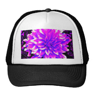 Dahlia puple or lilac tones trucker hat