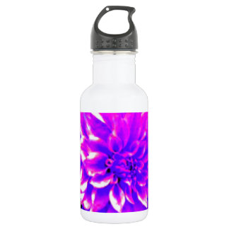Dahlia puple or lilac tones water bottle