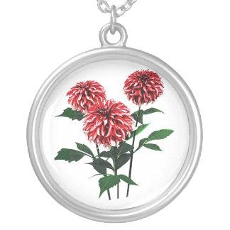 Dahlia Santa Claus Round Pendant Necklace