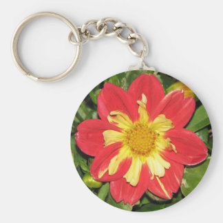 Dahlia Scarlet Basic Round Button Keychain