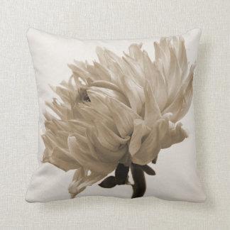 dahlia sepia print pillow