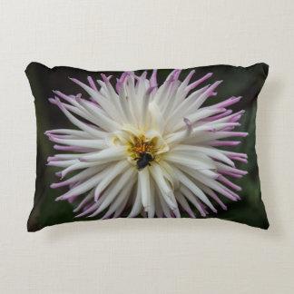 Dahlia Summer Flower Accent Pillow