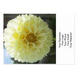 Dahlia Sunlit Yellow Flower Business Card Template