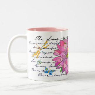 Dahlia Time Two-Tone Coffee Mug