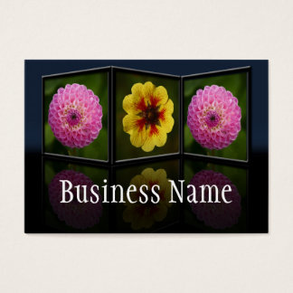 Dahlia Tryptych Frame Business Card