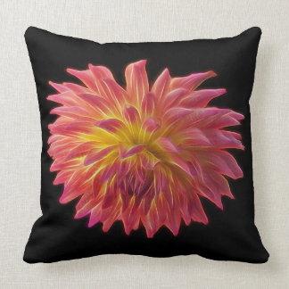 Dahlia with a glow, on a throw illow throw pillow