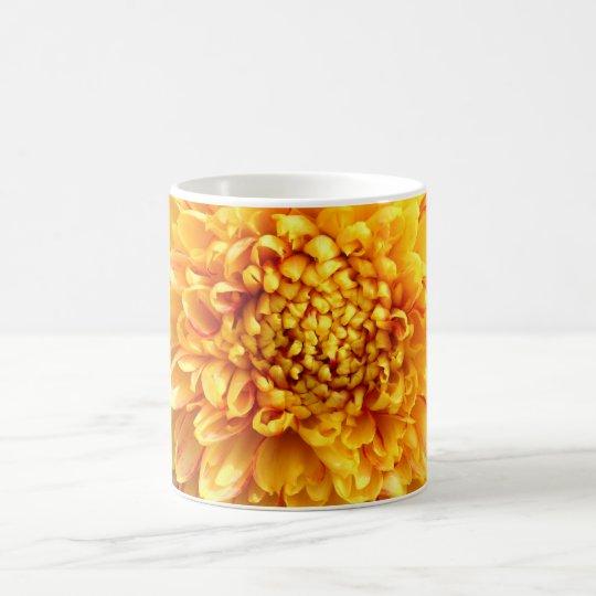 dahlia with yellow center coffee mug
