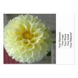 Dahlia Yellow Angle Flower Business Cards