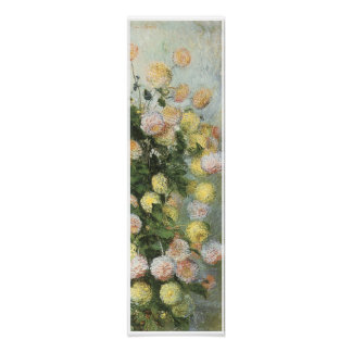 Dahlias, 1883, Claude Monet Poster