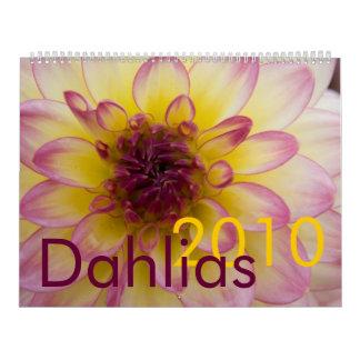 Dahlias 2010 Calendar