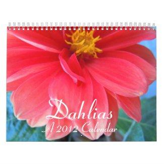 Dahlias 2012 calendar