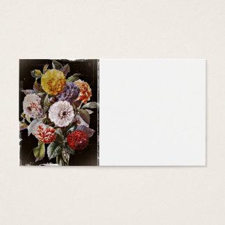 Dahlias Antique Bouquet Business Card