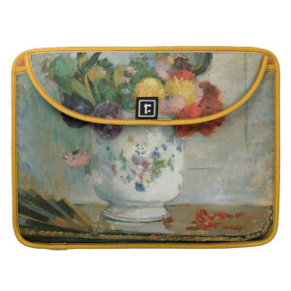 Dahlias by Berthe Morisot Sleeves For MacBook Pro