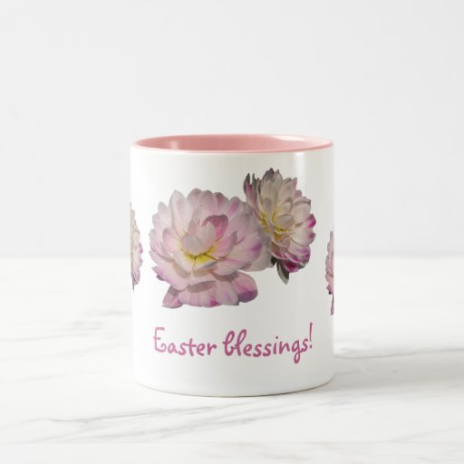 Dahlias Easter Two-Tone Coffee Mug