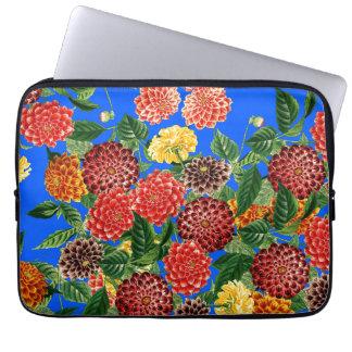 Dahlias Floral Botanical Flowers Laptop Sleeve