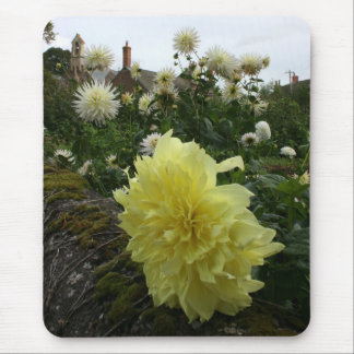 Dahlias in cottage garden mouse pad