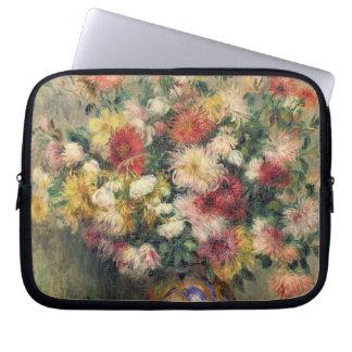 Dahlias (oil on canvas) computer sleeve