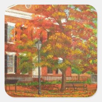 Dahlonega Gold Museum Autumn Colors Square Sticker