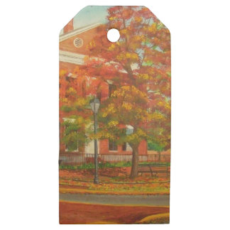 Dahlonega Gold Museum Autumn Colors Wooden Gift Tags