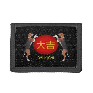 Dai Kichi Monogram Dog Trifold Wallet