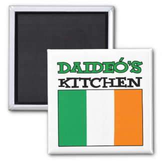 Daideo's Kitchen With Flag Of Ireland Magnet