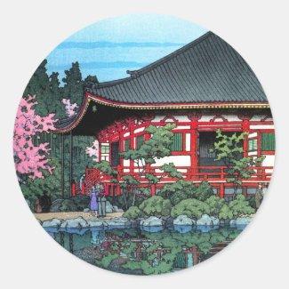 Daigo Denpo Temple Kyoto Hasui Kawase hanga Sticker