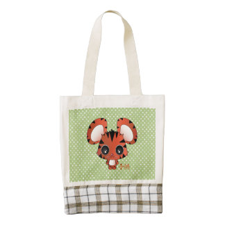 Daiki the tiger zazzle HEART tote bag