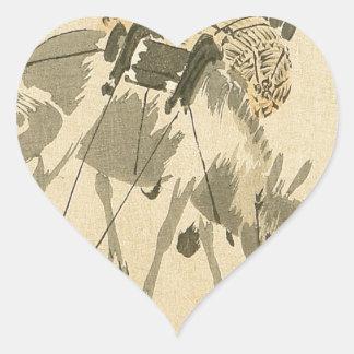 Daikoku and Mouse by Shibata Zeshin Heart Sticker