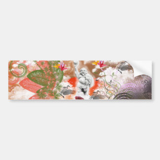 Daikoku it causes, the cat float island shrine bumper sticker