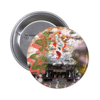 Daikoku it causes, the cat float island shrine com 2 inch round button