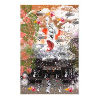 Daikoku it causes, the cat float island shrine com personalized stationery