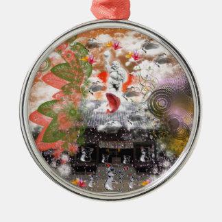 Daikoku it causes, the cat float island shrine metal ornament
