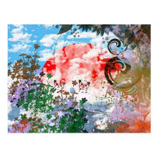 Daikoku it causes, the cat postcard