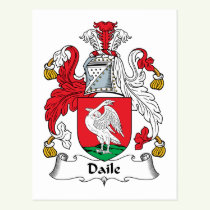 Daile Family Crest Postcard