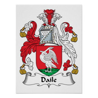 Daile Family Crest Poster