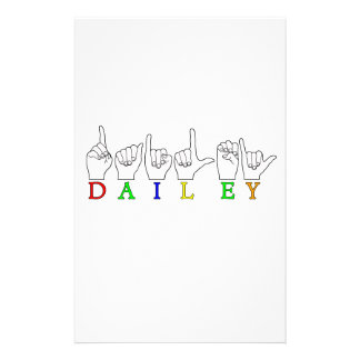 DAILEY ASL FINGERSPELLED NAME SIGN STATIONERY