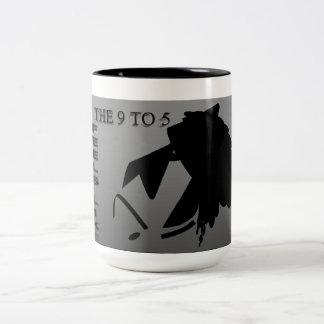Daily 9 - 5 Two-Tone coffee mug