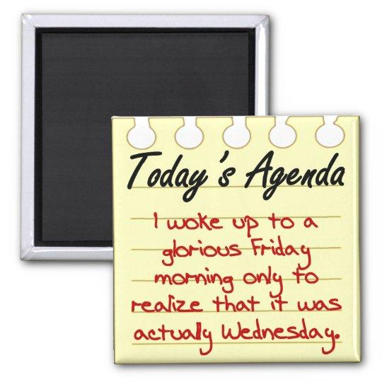 Daily Agenda Magnet