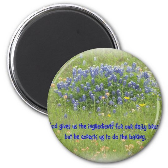 Daily Bread 2 Inch Round Magnet