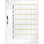 Daily Chore Chart Blue 1 Dry Erase Board