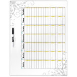 Daily Chore Chart Blue 2 Dry Erase Board